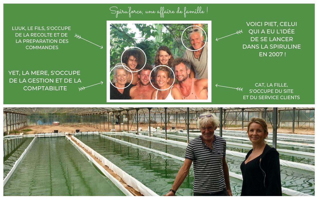 Spiru'force, production de spiruline en famille